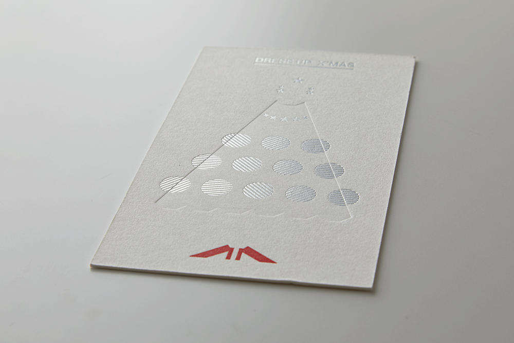 HELLO BEAUTIFUL X'mas カード (箔押し/空押し/活版印刷)
