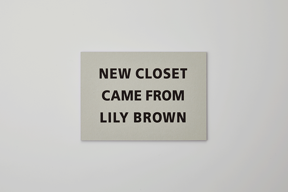 Lily Brown 2014AW 展示会DM(合紙/その他/箔押し)