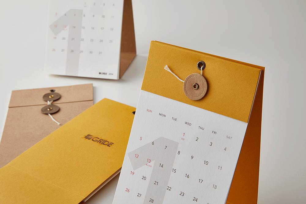 GRIDE カレンダー 2014(型抜き/その他)