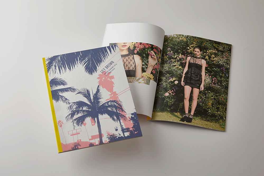 Lily Brown 2014SS 1st カタログ(シルク印刷/特殊製本)
