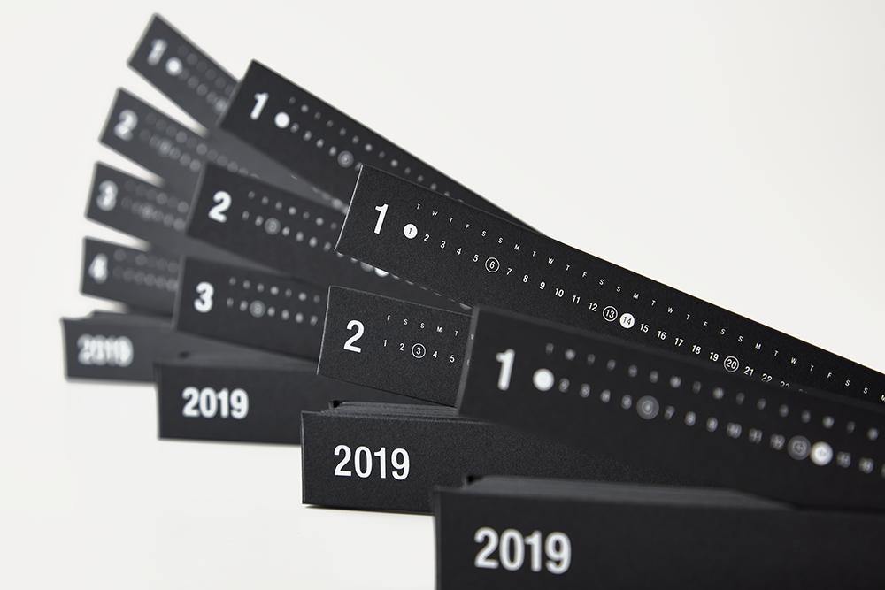 RING LINK FACTORY ORIGINAL CALENDAR 2019(型抜き/シルク印刷/特殊製本)