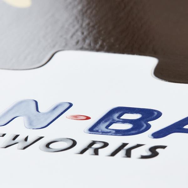 BAN-BANネットワークス BRAND BOOK(シルク印刷/特殊製本/型抜き)