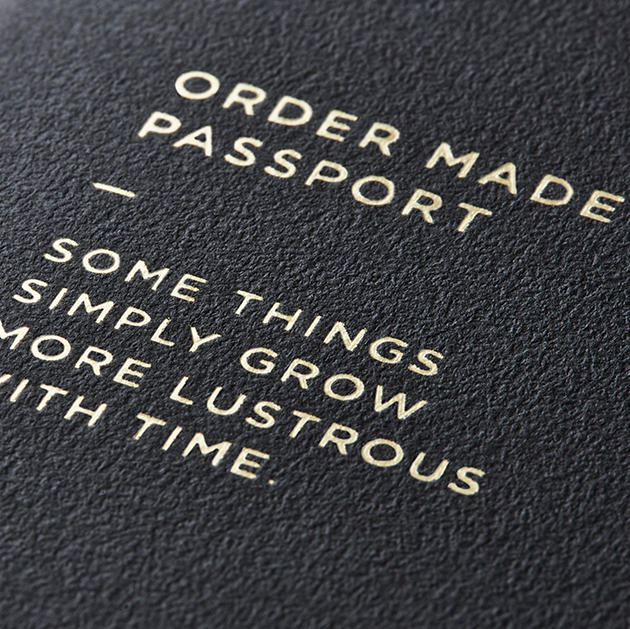 GANZO ORDER MADE PASSPORT(箔押し/特殊製本)