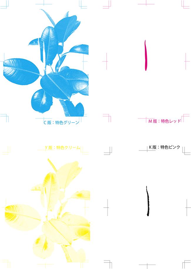 特色4色用の分版データ